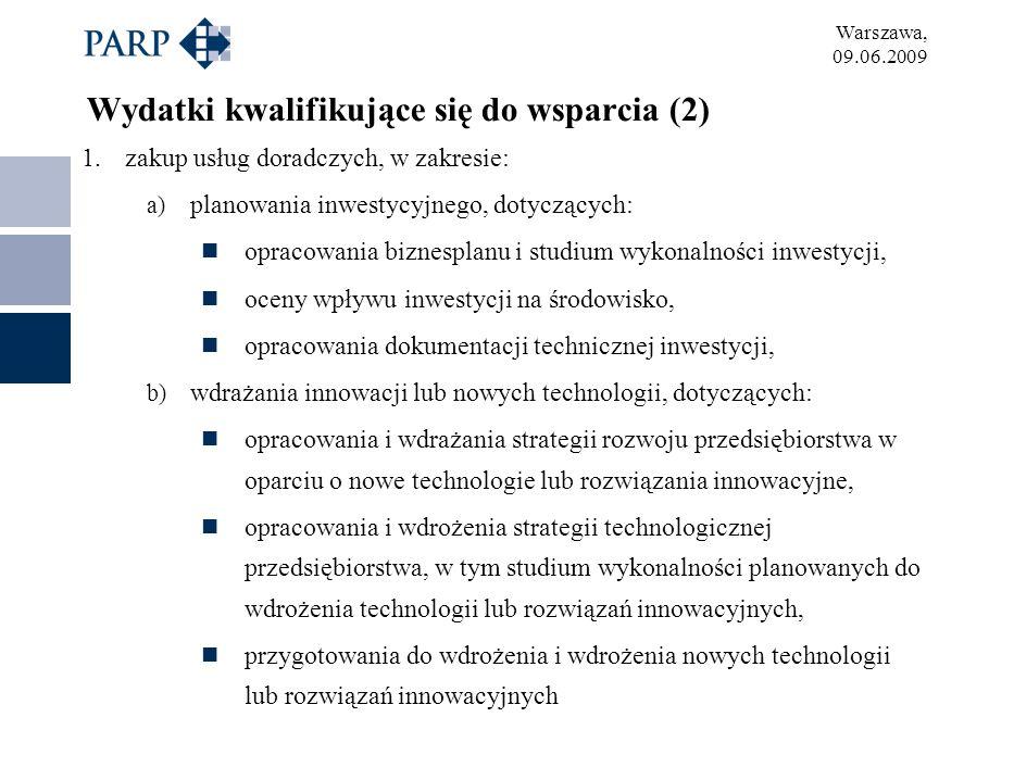 Wydatki kwalifikujące się do wsparcia (2)