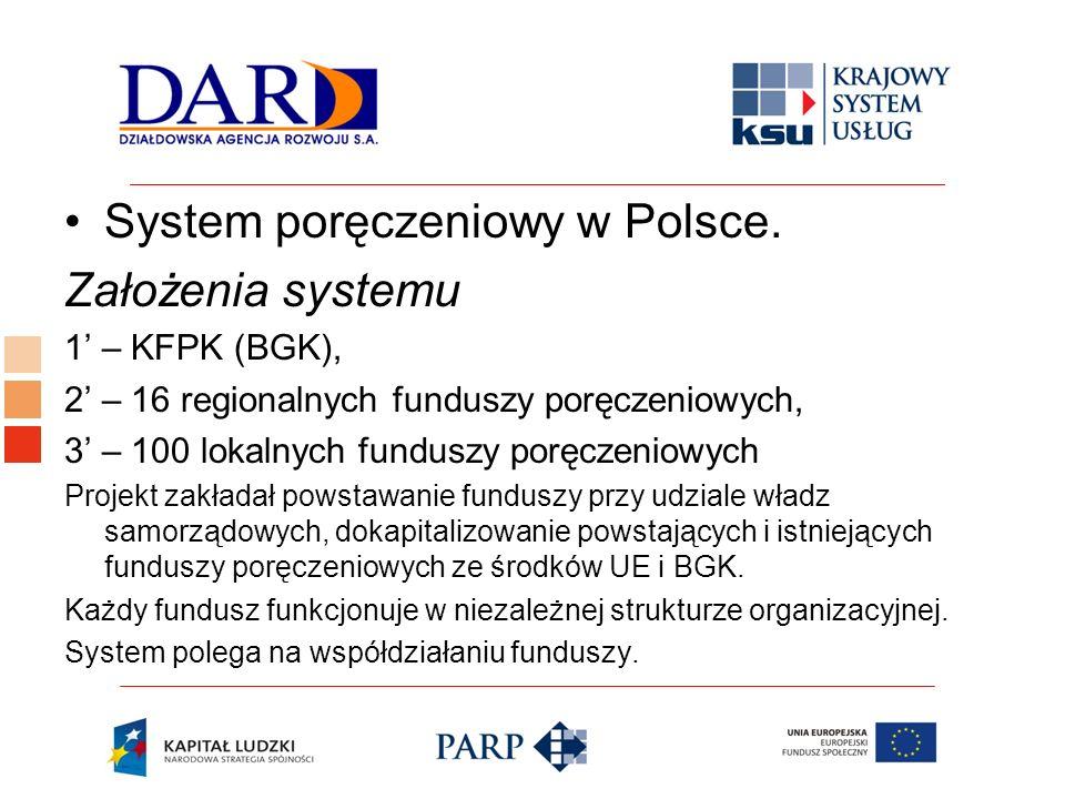 System poręczeniowy w Polsce. Założenia systemu
