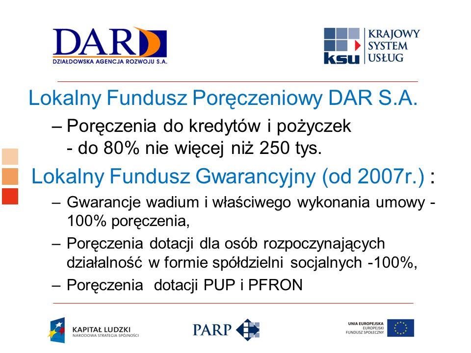 Lokalny Fundusz Poręczeniowy DAR S.A.