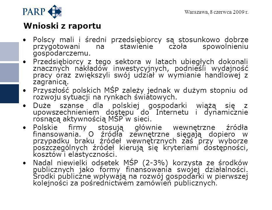 Wnioski z raportu Polscy mali i średni przedsiębiorcy są stosunkowo dobrze przygotowani na stawienie czoła spowolnieniu gospodarczemu.