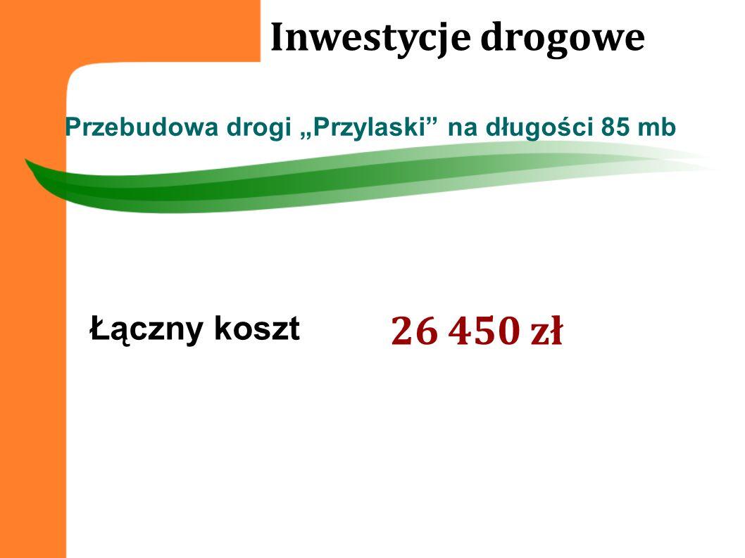 Inwestycje drogowe 26 450 zł Łączny koszt