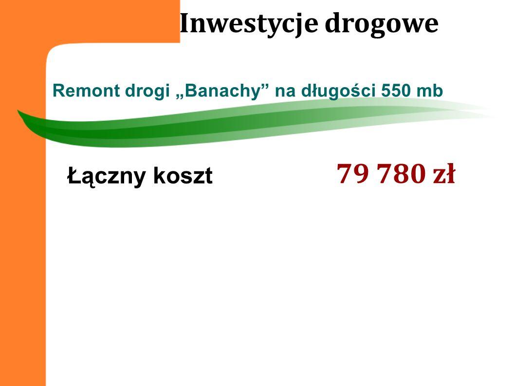 """Remont drogi """"Banachy na długości 550 mb"""