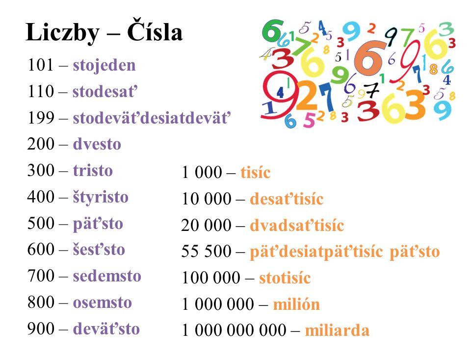 Liczby – Čísla