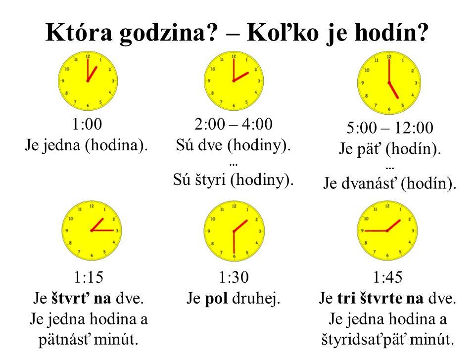 Która godzina – Koľko je hodín
