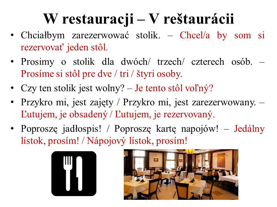 W restauracji – V reštaurácii