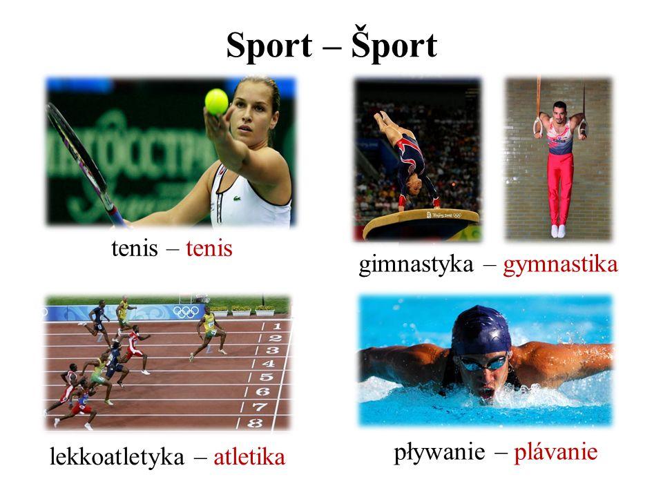 Sport – Šport tenis – tenis gimnastyka – gymnastika