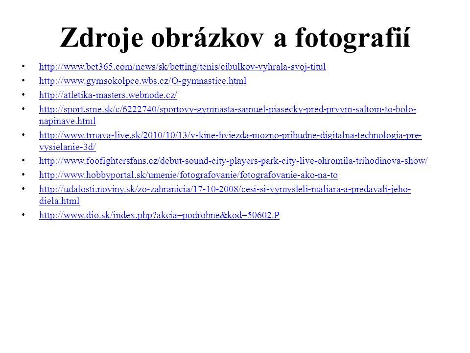 Zdroje obrázkov a fotografií