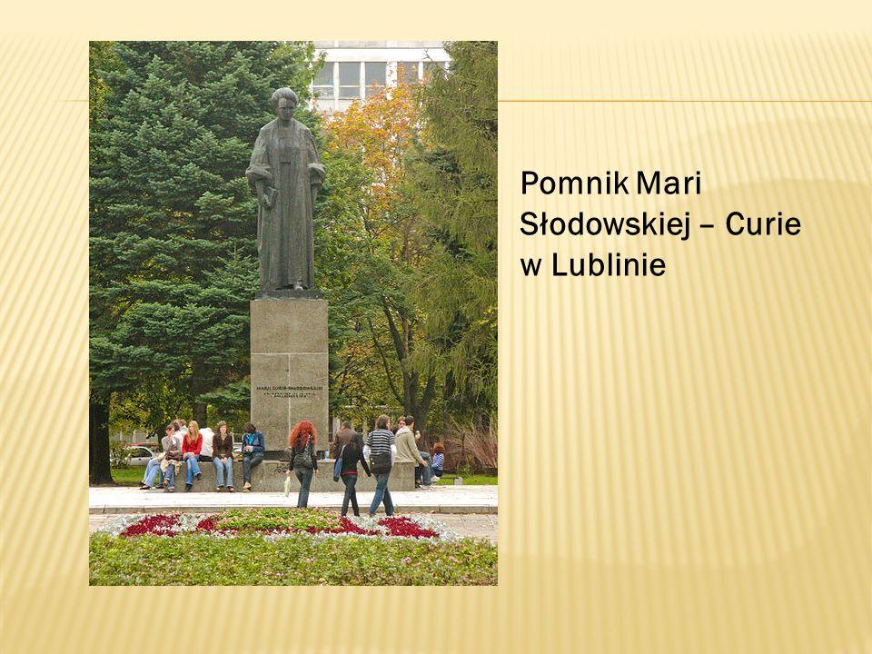 Pomnik Mari Słodowskiej – Curie w Lublinie