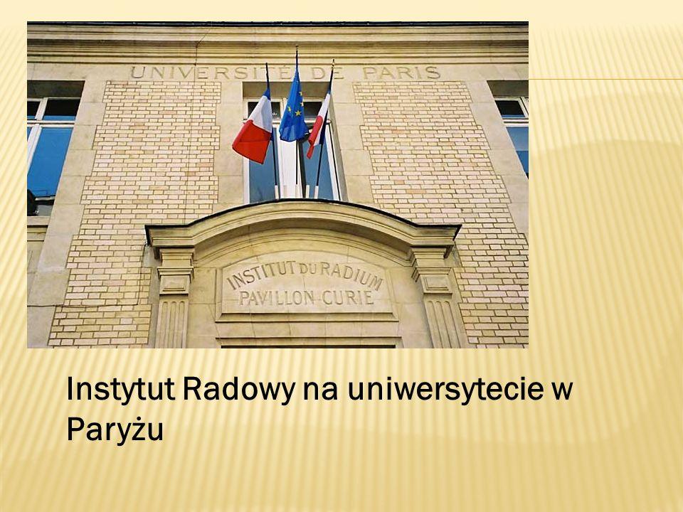 Instytut Radowy na uniwersytecie w Paryżu