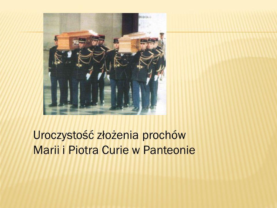 Uroczystość złożenia prochów Marii i Piotra Curie w Panteonie