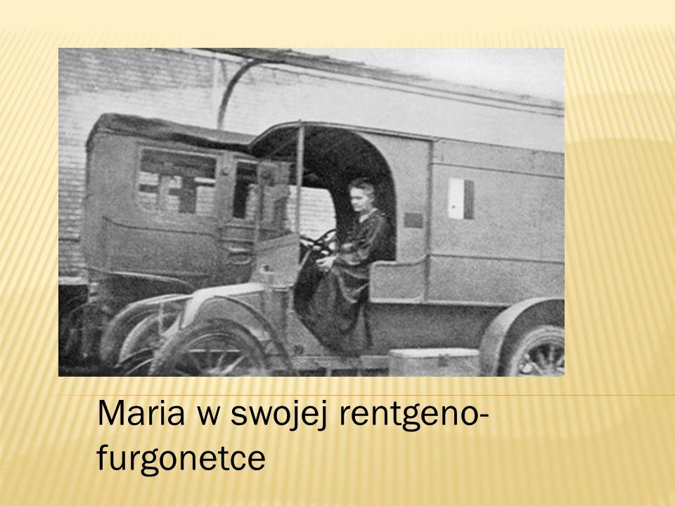 Maria w swojej rentgeno-furgonetce