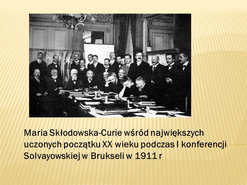 Maria Skłodowska-Curie wśród największych uczonych początku XX wieku podczas I konferencji Solvayowskiej w Brukseli w 1911 r