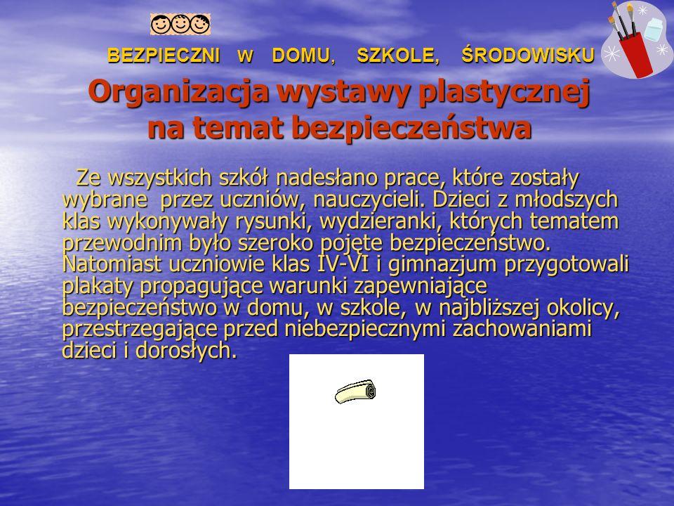 Organizacja wystawy plastycznej na temat bezpieczeństwa