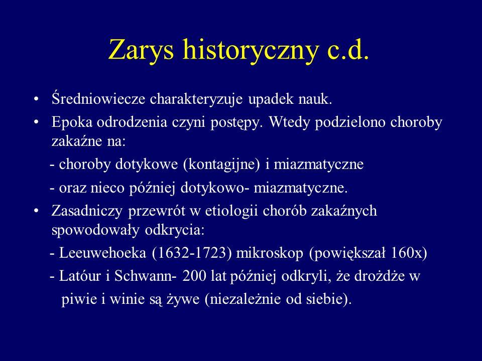 Zarys historyczny c.d. Średniowiecze charakteryzuje upadek nauk.