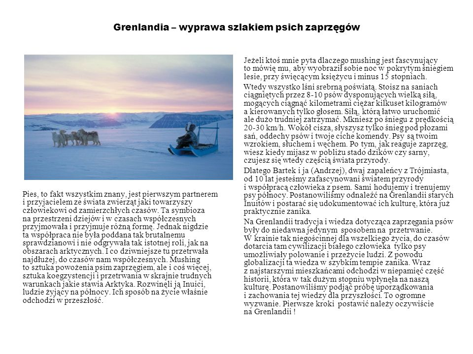 Grenlandia – wyprawa szlakiem psich zaprzęgów