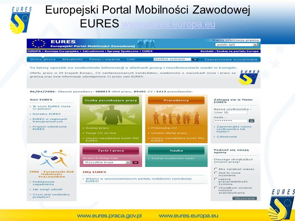 Europejski Portal Mobilności Zawodowej EURES www.eures.europa.eu