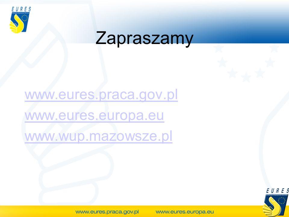 Zapraszamy www.eures.praca.gov.pl www.eures.europa.eu