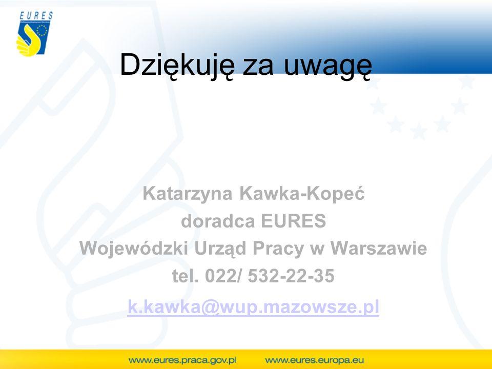 Katarzyna Kawka-Kopeć Wojewódzki Urząd Pracy w Warszawie