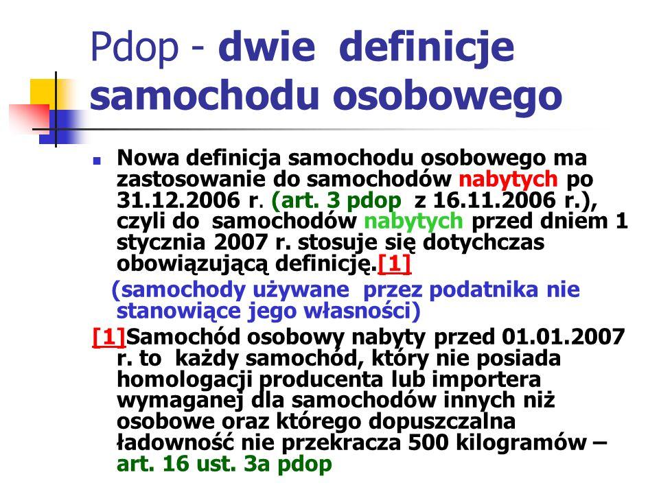 Pdop - dwie definicje samochodu osobowego