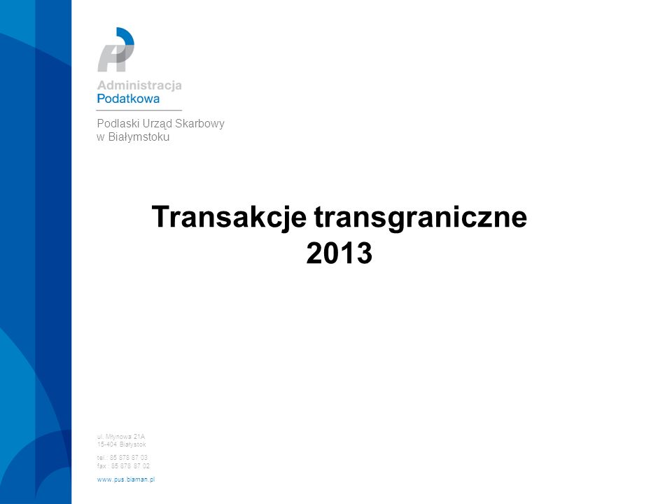 Transakcje transgraniczne
