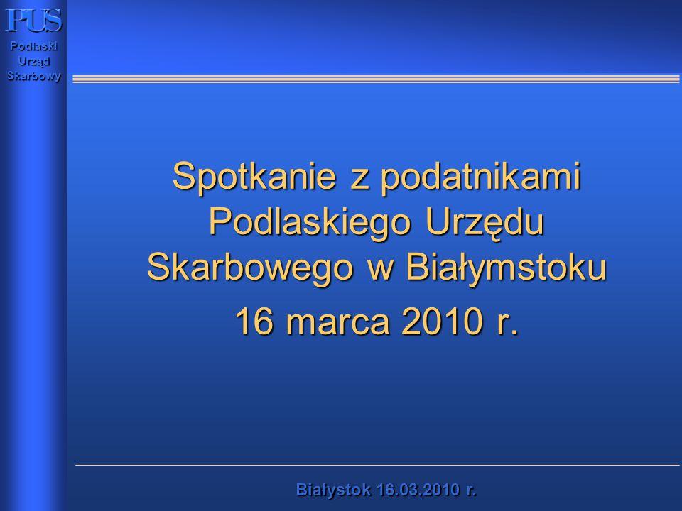 Spotkanie z podatnikami Podlaskiego Urzędu Skarbowego w Białymstoku