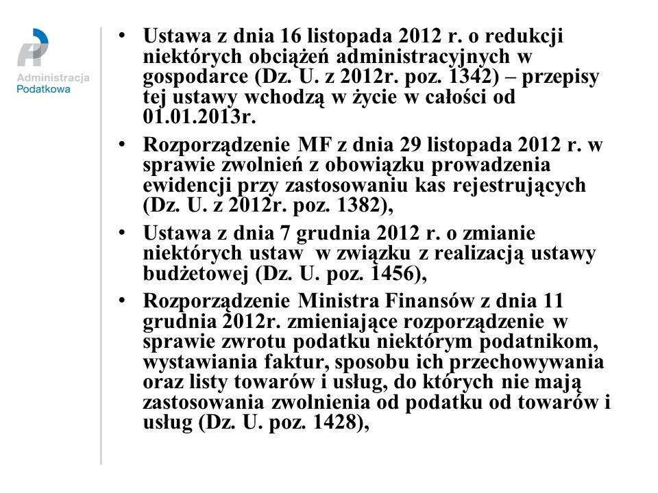 Ustawa z dnia 16 listopada 2012 r