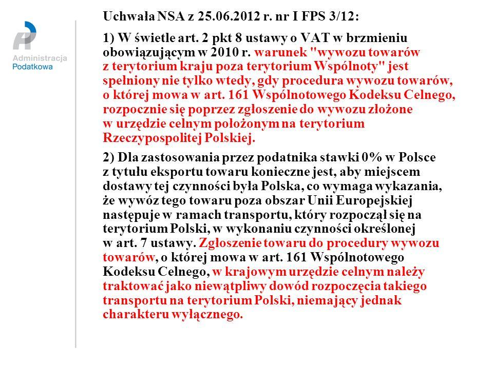 Uchwała NSA z 25.06.2012 r. nr I FPS 3/12: