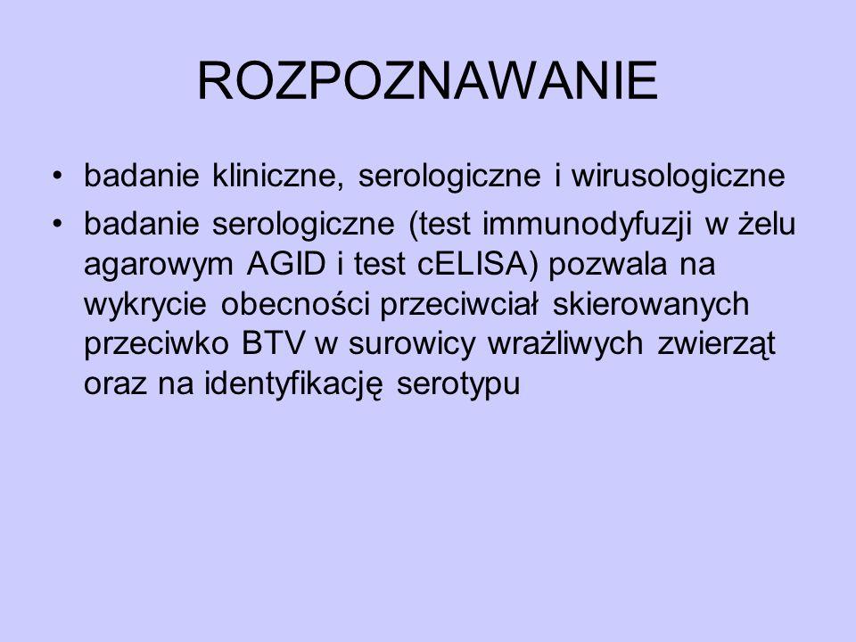 ROZPOZNAWANIE badanie kliniczne, serologiczne i wirusologiczne