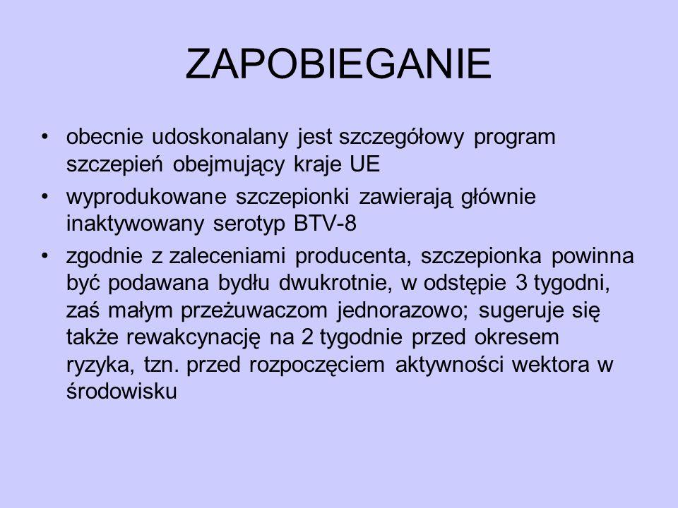 ZAPOBIEGANIE obecnie udoskonalany jest szczegółowy program szczepień obejmujący kraje UE.
