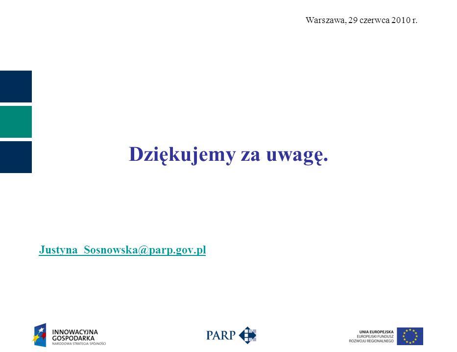 Dziękujemy za uwagę. Justyna_Sosnowska@parp.gov.pl