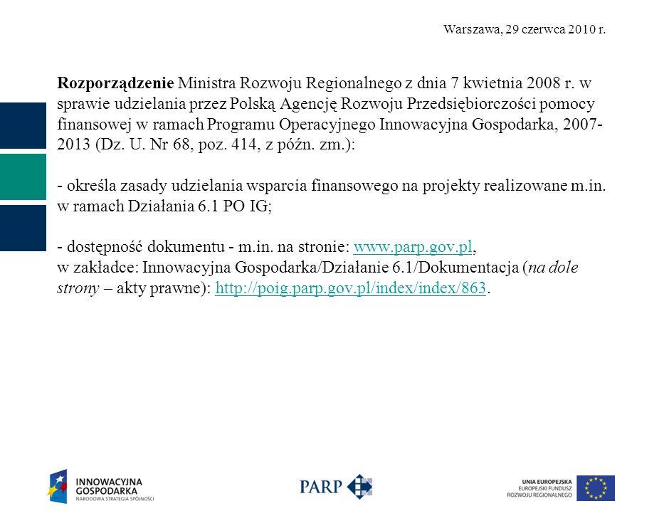 Rozporządzenie Ministra Rozwoju Regionalnego z dnia 7 kwietnia 2008 r