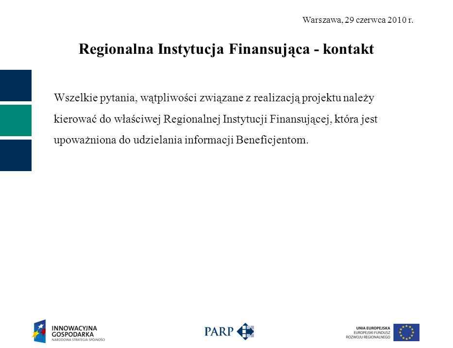 Regionalna Instytucja Finansująca - kontakt