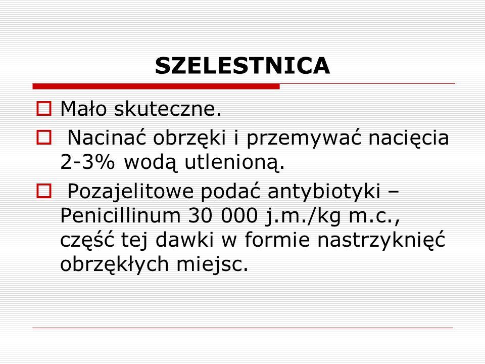 SZELESTNICA Mało skuteczne.