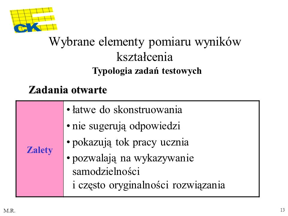 Wybrane elementy pomiaru wyników kształcenia