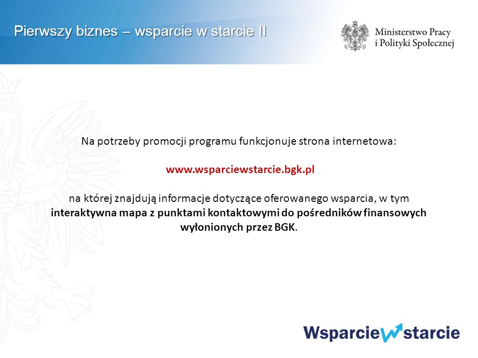 Na potrzeby promocji programu funkcjonuje strona internetowa: