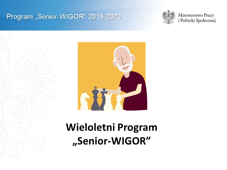 "Wieloletni Program ""Senior-WIGOR"