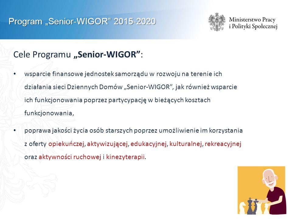 "Cele Programu ""Senior-WIGOR :"