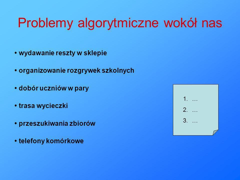 Problemy algorytmiczne wokół nas
