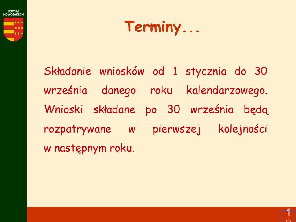 Terminy...