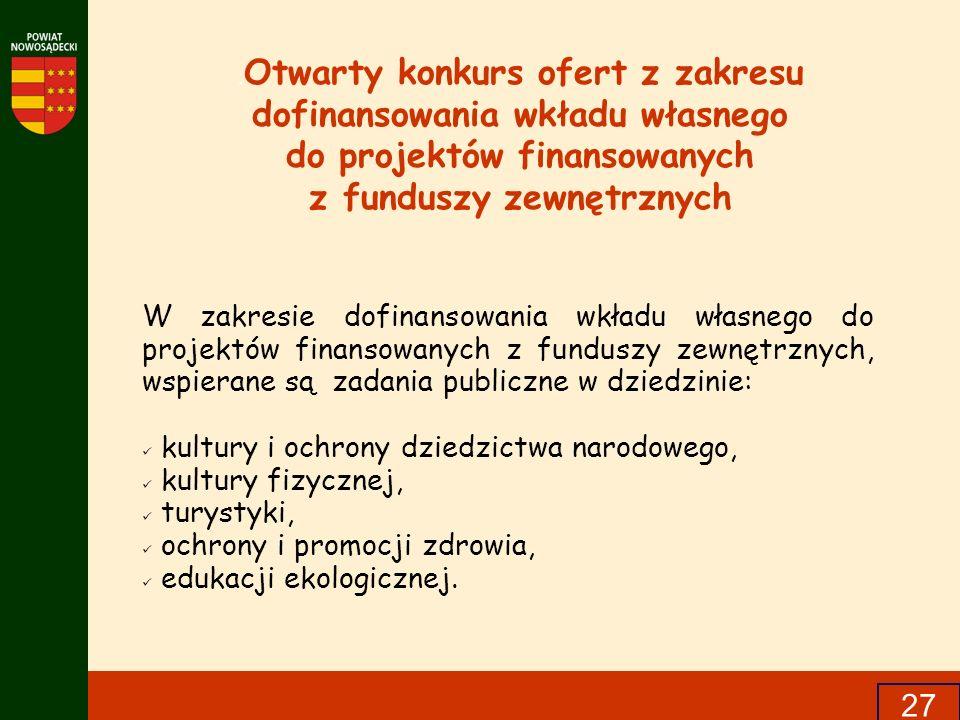 do projektów finansowanych z funduszy zewnętrznych