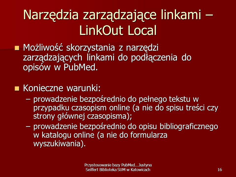 Narzędzia zarządzające linkami – LinkOut Local