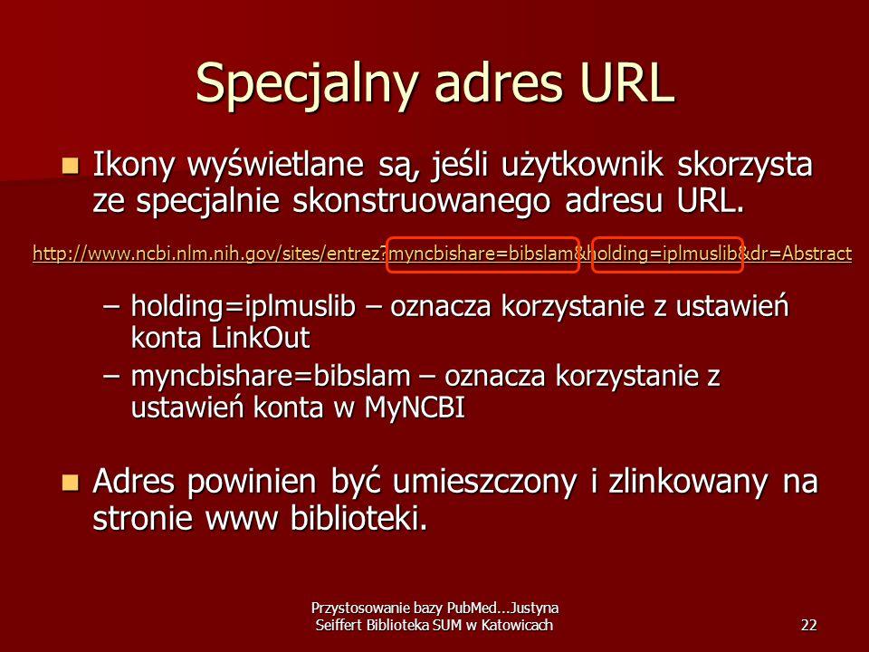 Specjalny adres URL Ikony wyświetlane są, jeśli użytkownik skorzysta ze specjalnie skonstruowanego adresu URL.