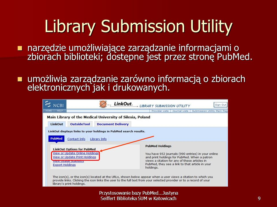 Library Submission Utility