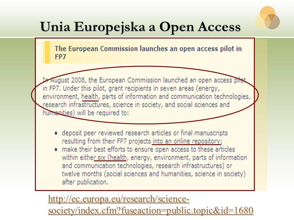 Unia Europejska a Open Access