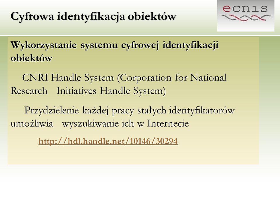 Cyfrowa identyfikacja obiektów