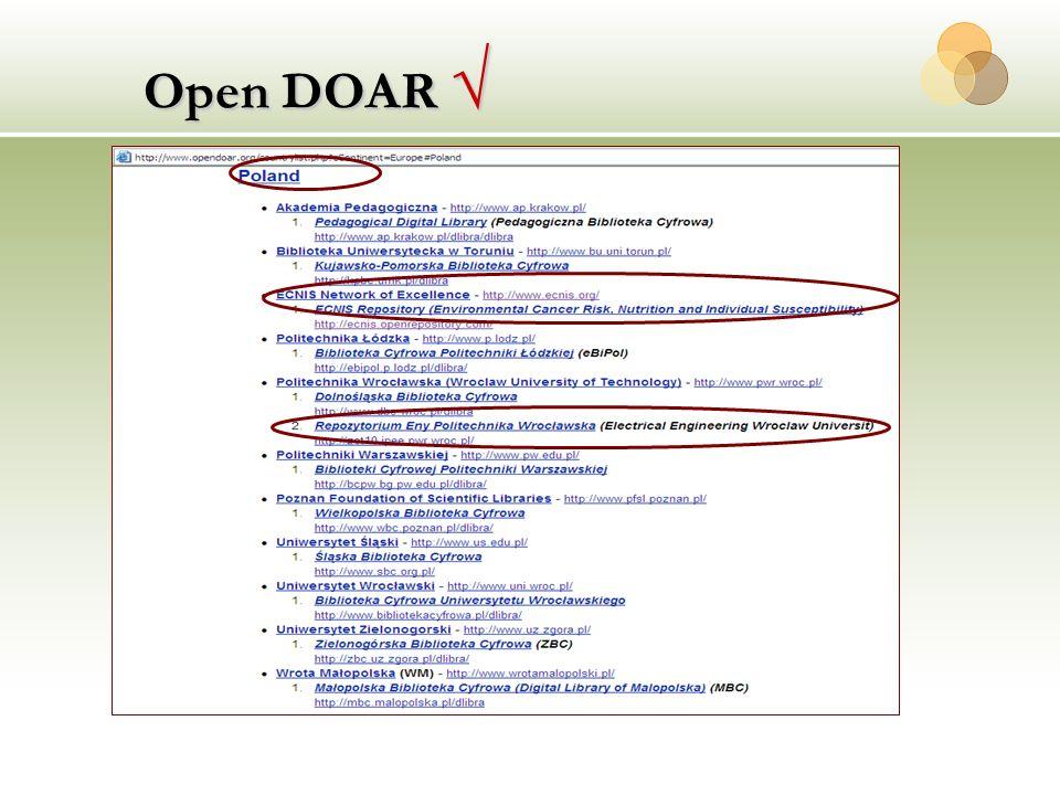 Open DOAR √