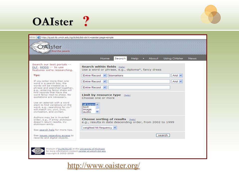 OAIster http://www.oaister.org/