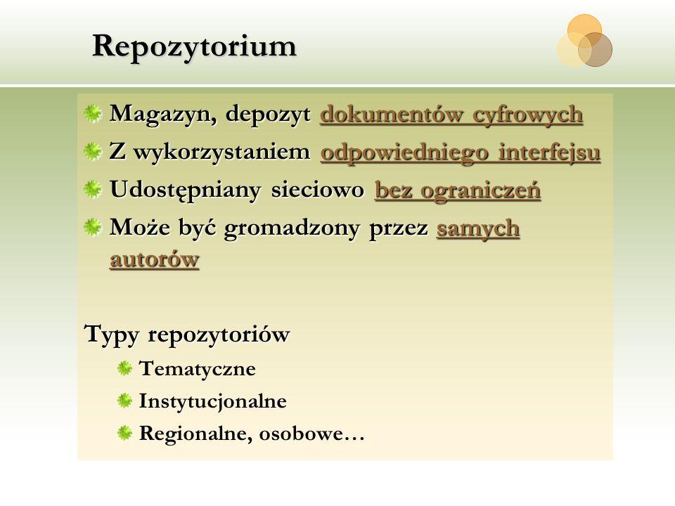 Repozytorium Magazyn, depozyt dokumentów cyfrowych