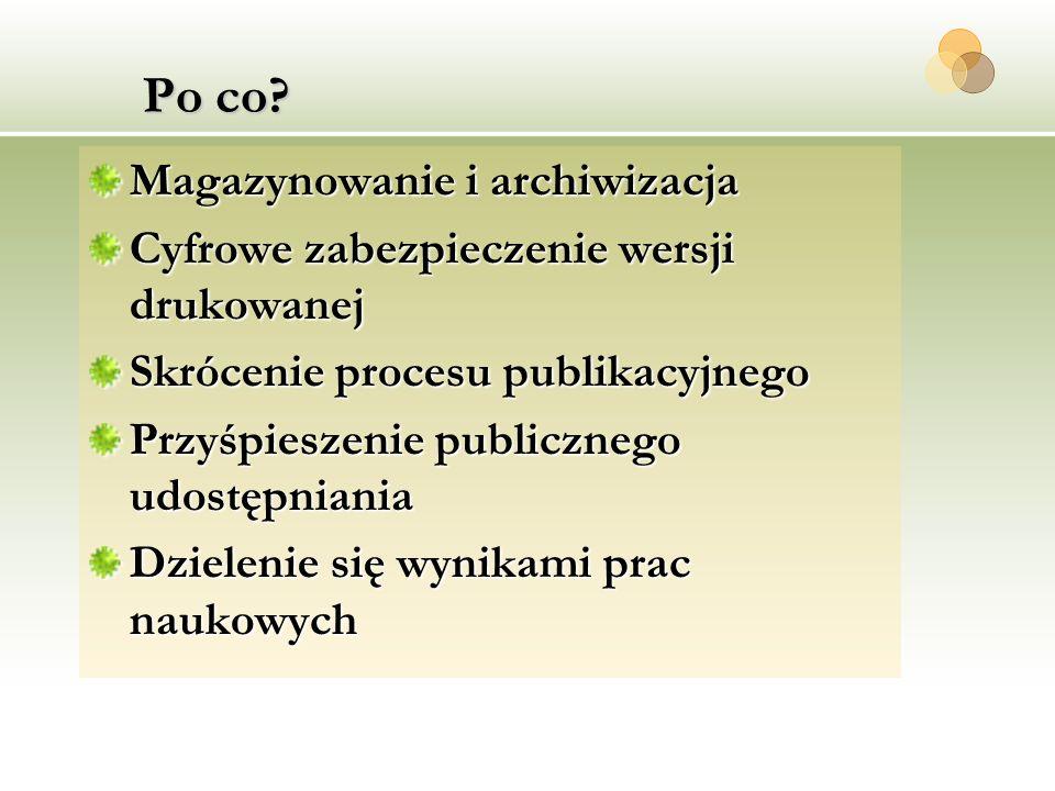 Po co Magazynowanie i archiwizacja