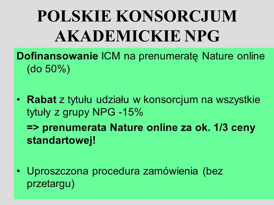 POLSKIE KONSORCJUM AKADEMICKIE NPG
